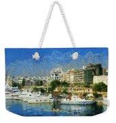 Panoramic Painting Of Pasalimani Port Weekender Tote Bag