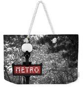 Paris Metro Weekender Tote Bag