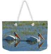 Pelicans In Hayden Valley Weekender Tote Bag