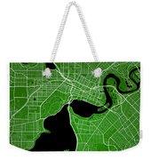 Perth Street Map - Perth Australia Road Map Art On Colored Backg Weekender Tote Bag