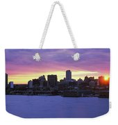Philadelphia Skyline At Dusk Weekender Tote Bag