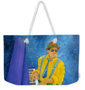 Piano Man Weekender Tote Bag by Pamela Allegretto