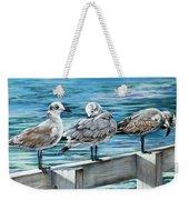 Pier Gulls Weekender Tote Bag
