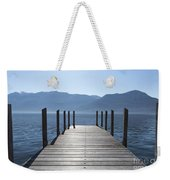 Pier On An Alpine Lake Weekender Tote Bag