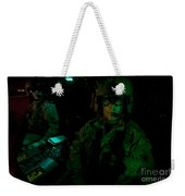 Pilots Equipped With Night Vision Weekender Tote Bag