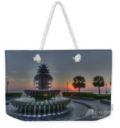 Pineapple Sunrise Weekender Tote Bag
