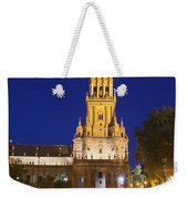 Plaza De Espana Tower In Seville Weekender Tote Bag