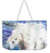 Polar Bear Reflection Weekender Tote Bag