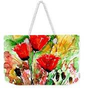 Poppy Lawn Weekender Tote Bag