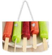 Popsicles Ice Cream Frozen Treat Weekender Tote Bag by Edward Fielding