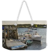 Port Clyde Maine Boats And Harbor Weekender Tote Bag