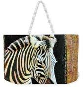 Portrait Of A Zebra Weekender Tote Bag