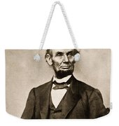 Portrait Of Abraham Lincoln Weekender Tote Bag