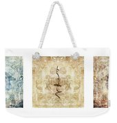 Prayer Flag Triptych Weekender Tote Bag by Carol Leigh