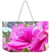 Pretty Pink Flower Weekender Tote Bag
