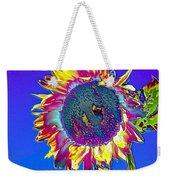 Psychedelic Sunflower Weekender Tote Bag