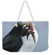 Puffin With Fish Weekender Tote Bag