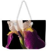 Purple And White Bearded Iris Weekender Tote Bag