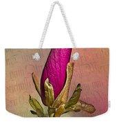 Purple Magnolia Weekender Tote Bag