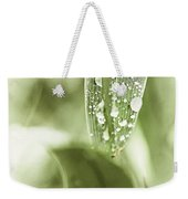 Raindrops On Grass Weekender Tote Bag