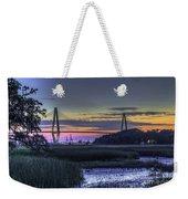Charleston Bridge Low Tide Weekender Tote Bag