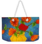 Red And Orange Flowers Weekender Tote Bag