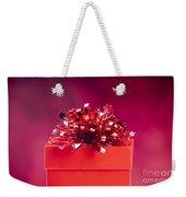 Red Gift Box Weekender Tote Bag