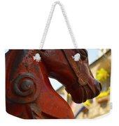 Red Horse Head Post Weekender Tote Bag