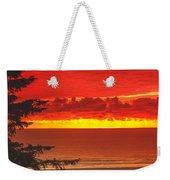 Red Pacific Weekender Tote Bag