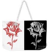 2 Red Rose Drawing Combo Weekender Tote Bag