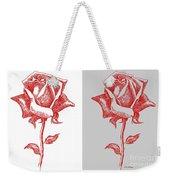2 Red Roses Poster Weekender Tote Bag