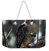 Red - Shouldered Hawk II Weekender Tote Bag