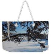 Redbud Tree In Winter Weekender Tote Bag