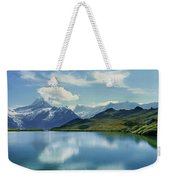Reflection Of Clouds And Mountain Weekender Tote Bag