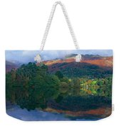 Reflection Of Hills In A Lake Weekender Tote Bag