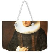 Rembrandt's An Old Lady With A Book Weekender Tote Bag