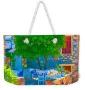 Colourful Restaurant Weekender Tote Bag
