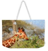 Reticulated Giraffe Kenya Weekender Tote Bag