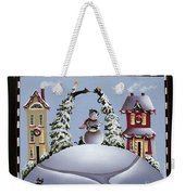 Romping Through The Snow Weekender Tote Bag