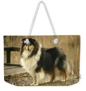 Rough Collie Dog Weekender Tote Bag