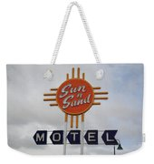 Route 66 - Santa Rosa New Mexico Weekender Tote Bag by Frank Romeo