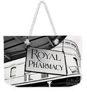 Royal Pharmacy - Bw Weekender Tote Bag
