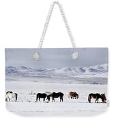 Ruby Mountain Winter Weekender Tote Bag