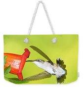Ruby Throated Hummingbird Female Weekender Tote Bag