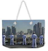 Sailors Man The Rails Aboard Weekender Tote Bag