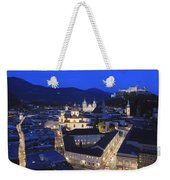 Salzburg At Night Austria  Weekender Tote Bag