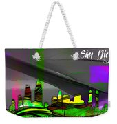 San Diego California Skyline Watercolor Weekender Tote Bag