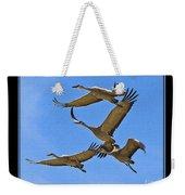 Sandhill Cranes In Flight Weekender Tote Bag