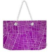 Santiago Street Map - Santiago Chile Road Map Art On Colored Bac Weekender Tote Bag