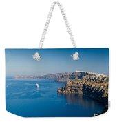 Santorini Caldera Weekender Tote Bag